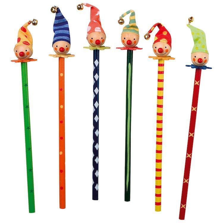 Matite in legno colorate Clown Set da 6