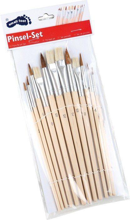 Set pennelli in legno di varie misure Set da 12