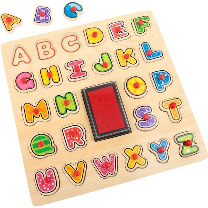 Timbro e Puzzle ABC Imparare alfabeto Legler 10218