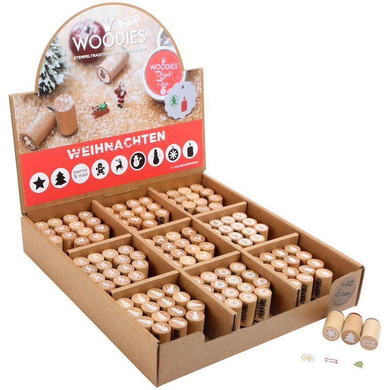 Display espositore tamponcini per Timbri natalizi Woodies Legler 10310