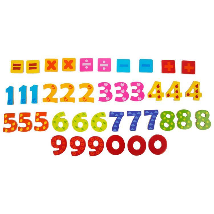 Numeri colorati in legno con calamita Legler 10731