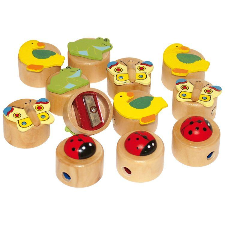 Temperamatite in legno Set da 12