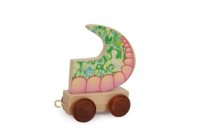 Coda per trenino lettere in legno gioco per bambini