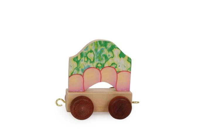 Trenino lettere in legno Corpo del drago gioco per bambini
