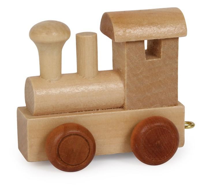 Trenino lettere Locomotiva in legno gioco per bambini