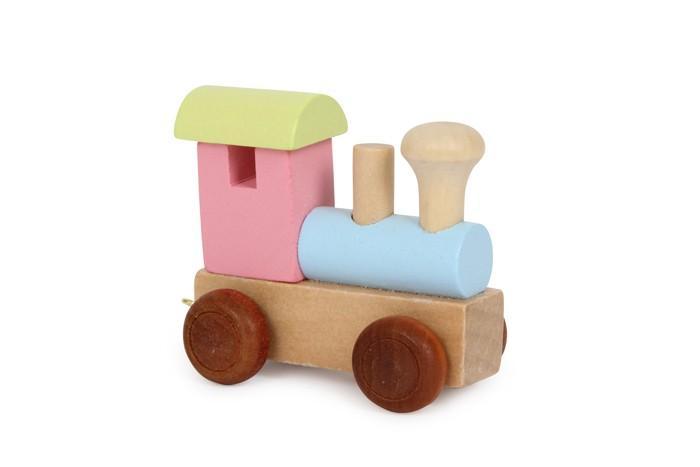 Locomotiva colorata trenino lettere in legno gioco per bambini