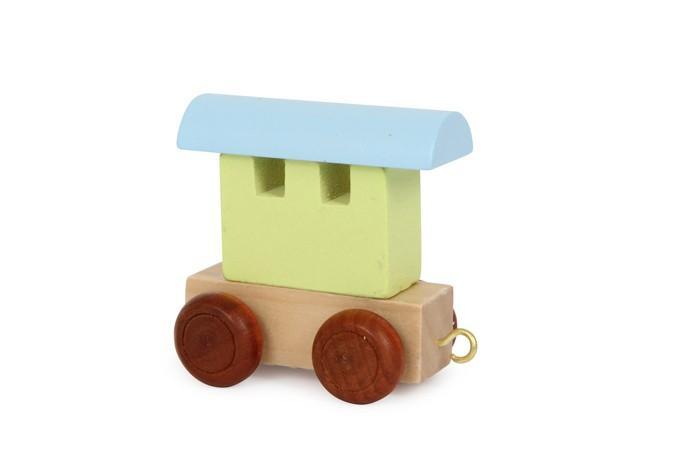 Vagone colorato per trenino lettere in legno gioco per bambini