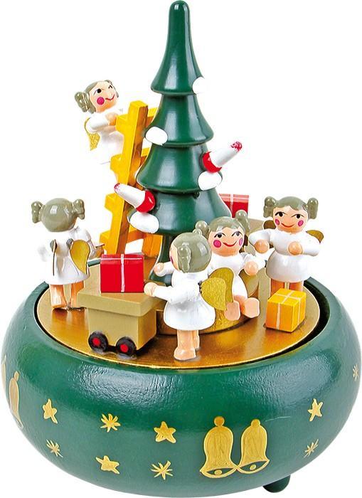 Carillon Albero di Natale con angeli  natalizio