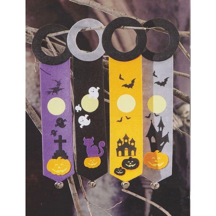Decorazione in Tessuto da appendere per Halloween set 4 pezzi
