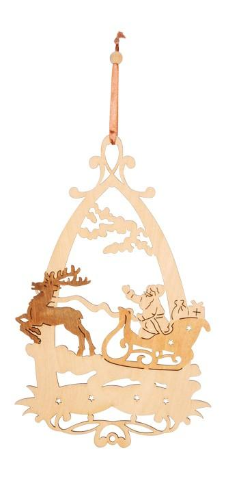 Decorazione natalizia per finestre in legno set da 4