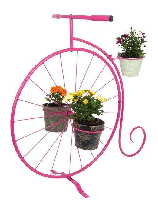 Decorazione piante Mono bicicletta colore rosa arredo giardino