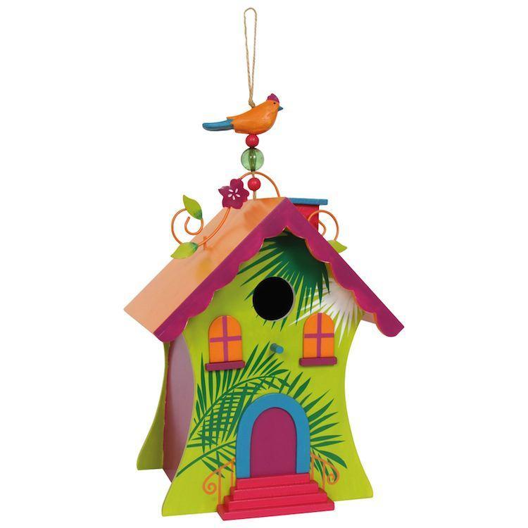 Voliera nido per uccelli in legno colorato