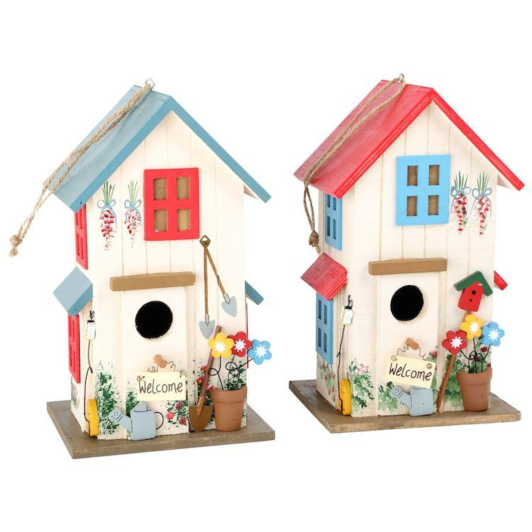Voliera per uccelli in legno Decorazione arredo giardino terrazzo casa Set da 2