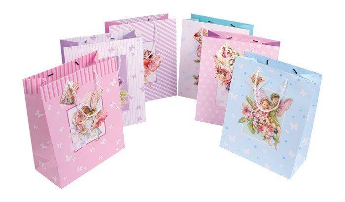 Sacchetti buste di carta con cartolina per regalo compleanno battesimo Set da 6