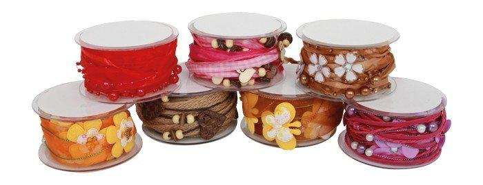 Nastri da regalo set 7 pezzi brillanti per decorazioni pacco regalo