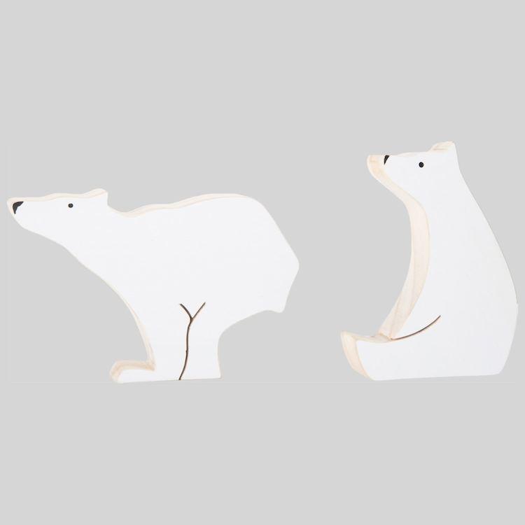 Orsi polari in legno Decorazione arredo casa