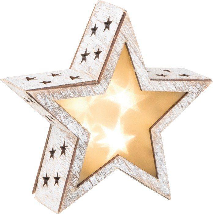 Lanterna a stella stile shabby chic piccola Decorazione natalizia