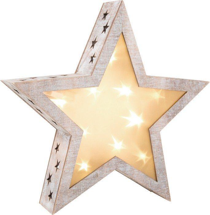 Lanterna a stella stile shabby chic grande Decorazione Natale