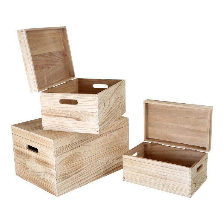 Cassa in legno Natura set 3 pezzi Legler 10049