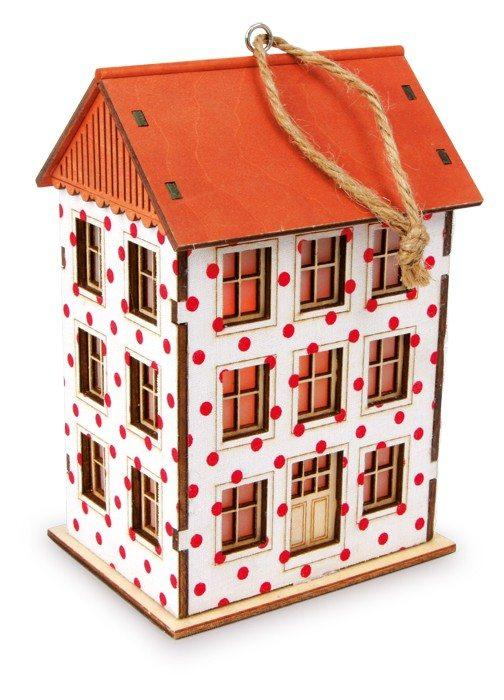 Lanterna casetta in legno Decorazione per la casa