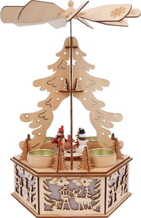 Lampada in legno Piramide d?inverno Decorazione per Natale