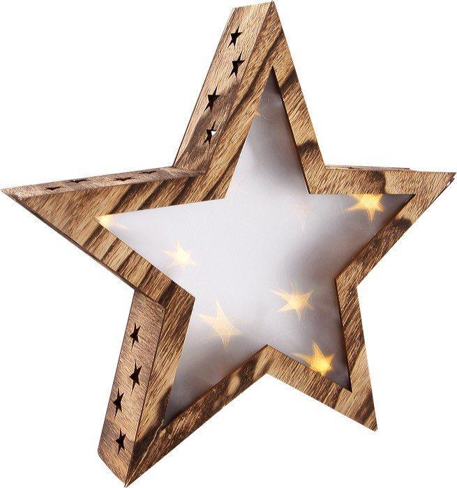 Lanterna Stella luminosa in legno grande Decorazione natalizia