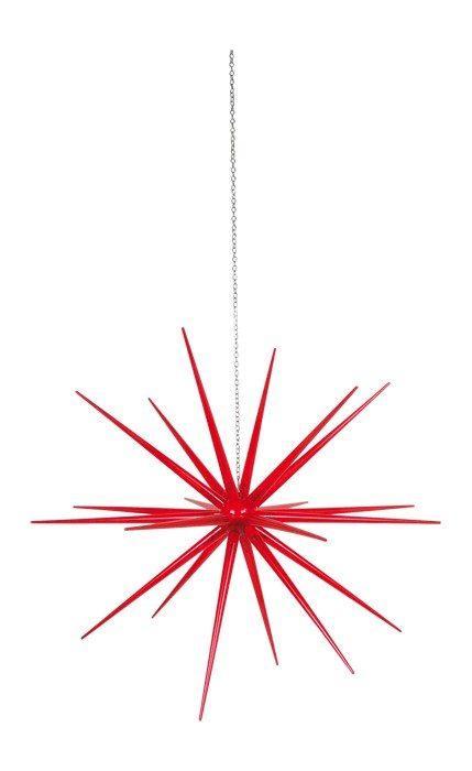Lampada Stella pensile rossa