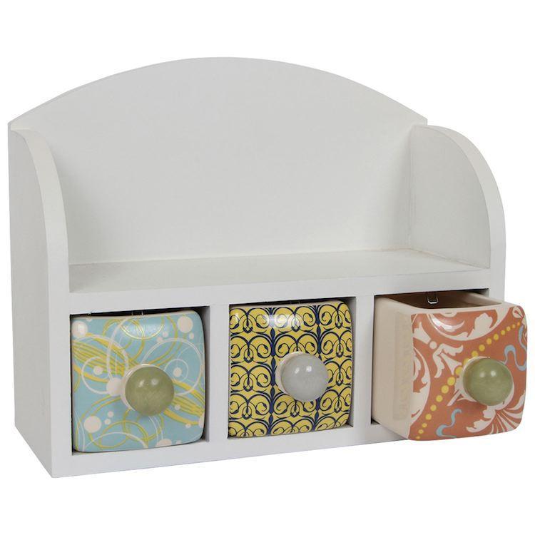 Scaffale con cassetti portaoggetti in legno Arredo casa cameretta ufficio