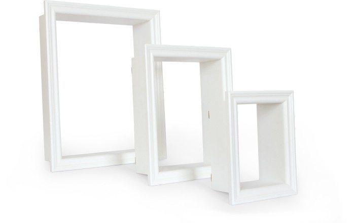 Cornice decorativa in legno per oggetti Set da 3