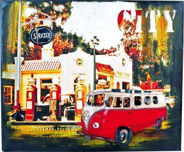Quadro di latta Bus Hippie stile nostalgico Arredo casa ufficio