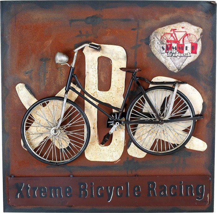 Quadro di latta Bicicletta stile nostalgico Decorazione arredo casa