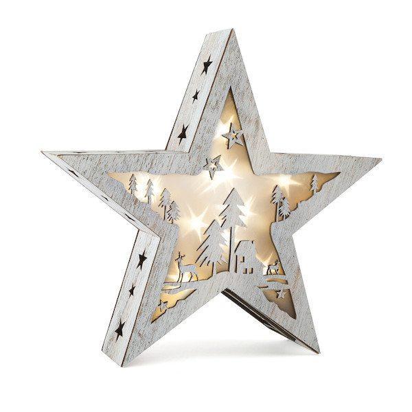 Stella illuminata Shabby Chic piccola Natale Legler 10202