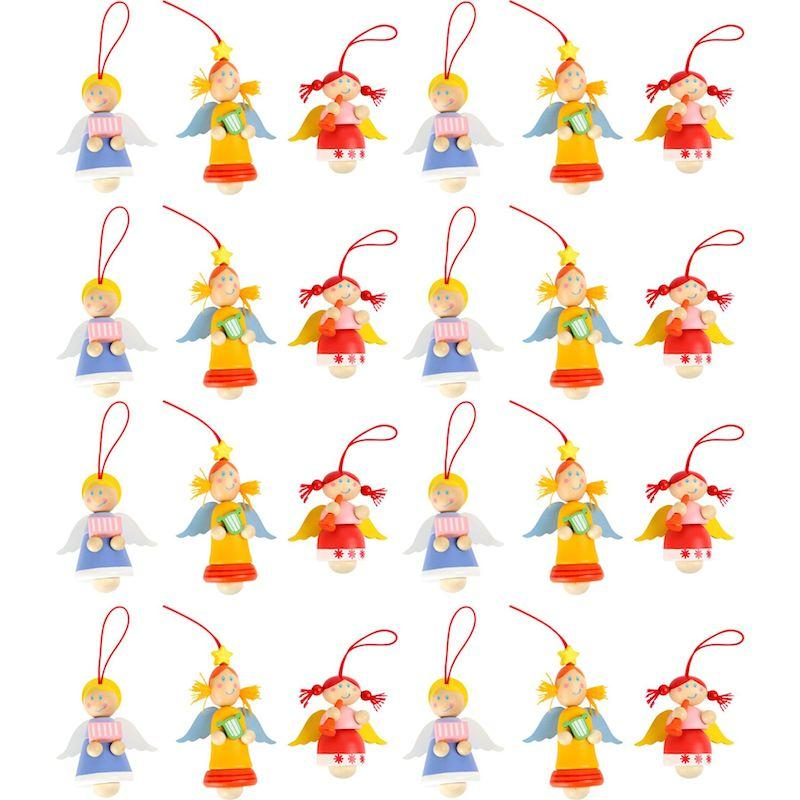 Angeli decorativi da appendere Legler 10255 set 24 pezzi per espositori