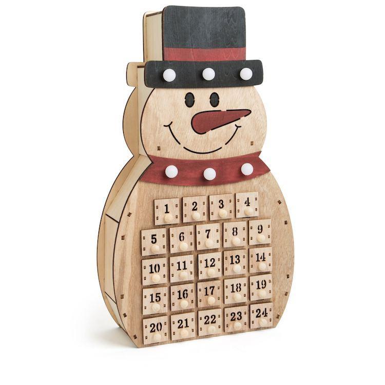 Calendario dell'Avvento in legno Pupazzo di neve  Legler 10544