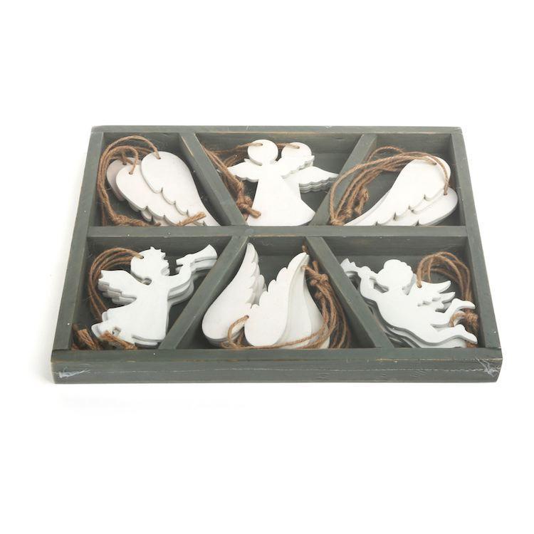 Pendagli decorativi Angeli in legno Natale Legler 10542