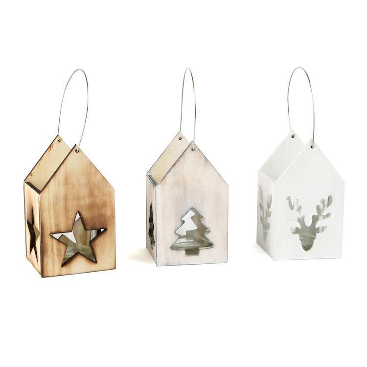 Lanterne in legno Motivo natalizio Arredo casa Natale Legler 10535
