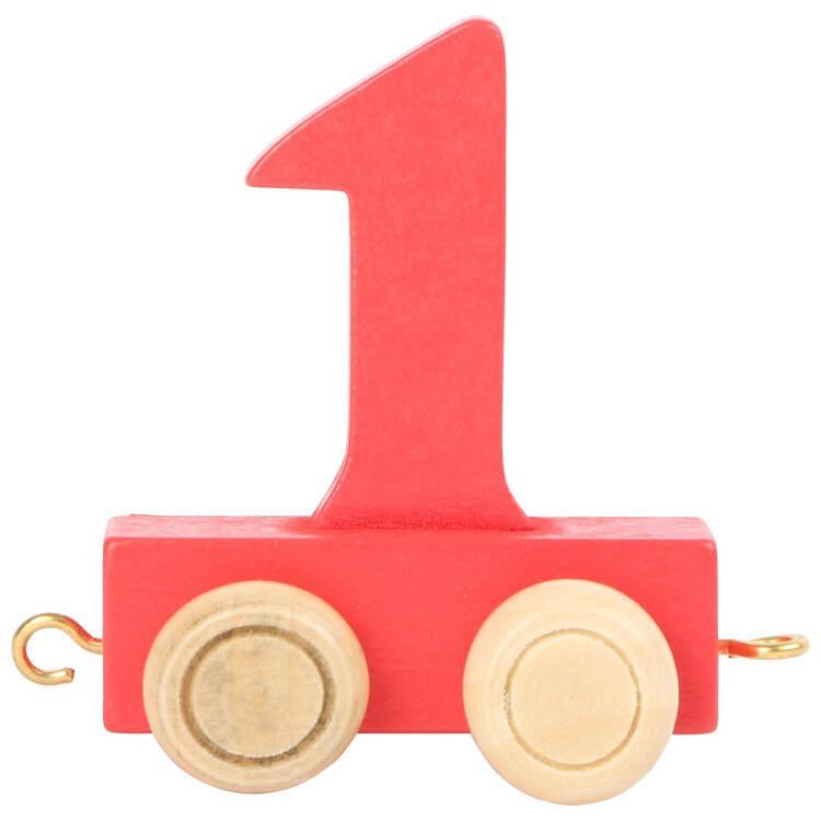 Numeri in legno Colorati per Trenino nome Bambini da 0 a 9