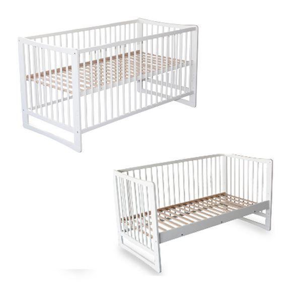 Lettino per neonati bambini in legno laccato bianco