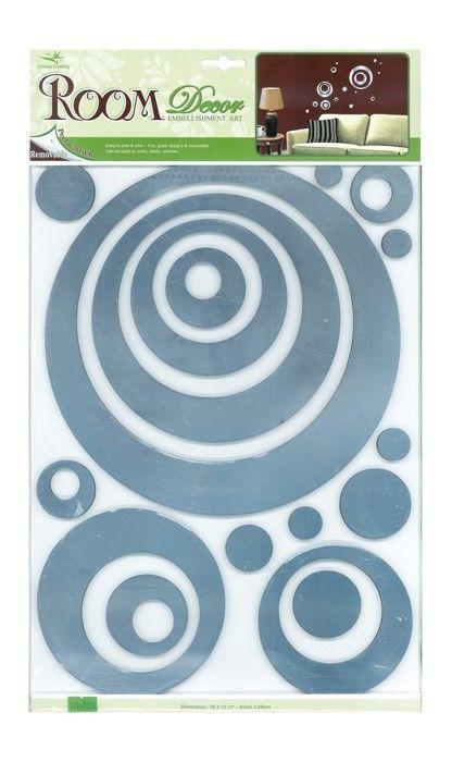 Adesivi decorative Cerchi argentato arredo cameretta e mobili bambini