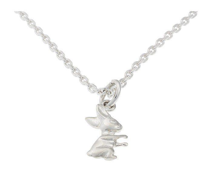 Set gioielli Collana e orecchini per bambini in argento Coniglio