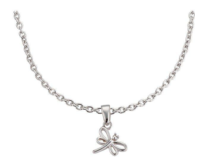 Set gioielli Collana e orecchini per bambini in argento Libellula