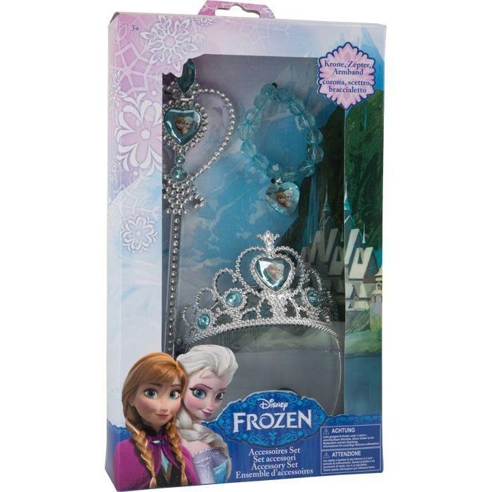 Set Diadema Corona Scettro E Pendaglio Frozen Disney Regina Elsa E Anna