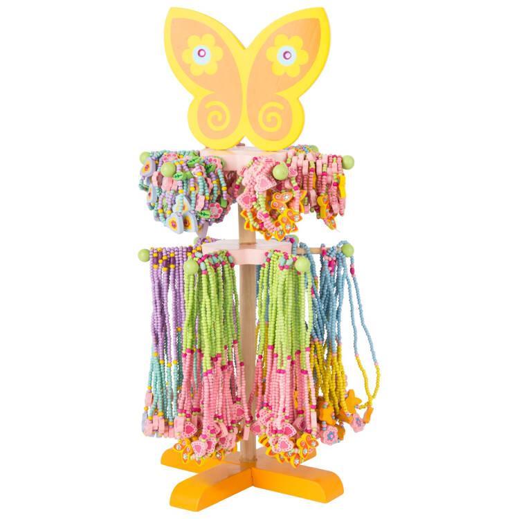 Gioielli collane e braccialetti in legno display