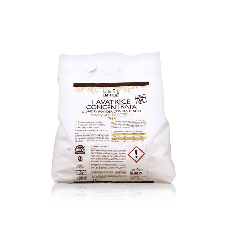 Detersivo Lavatrice in Polvere Ecologico Concentrato 3kg, Officina Naturae