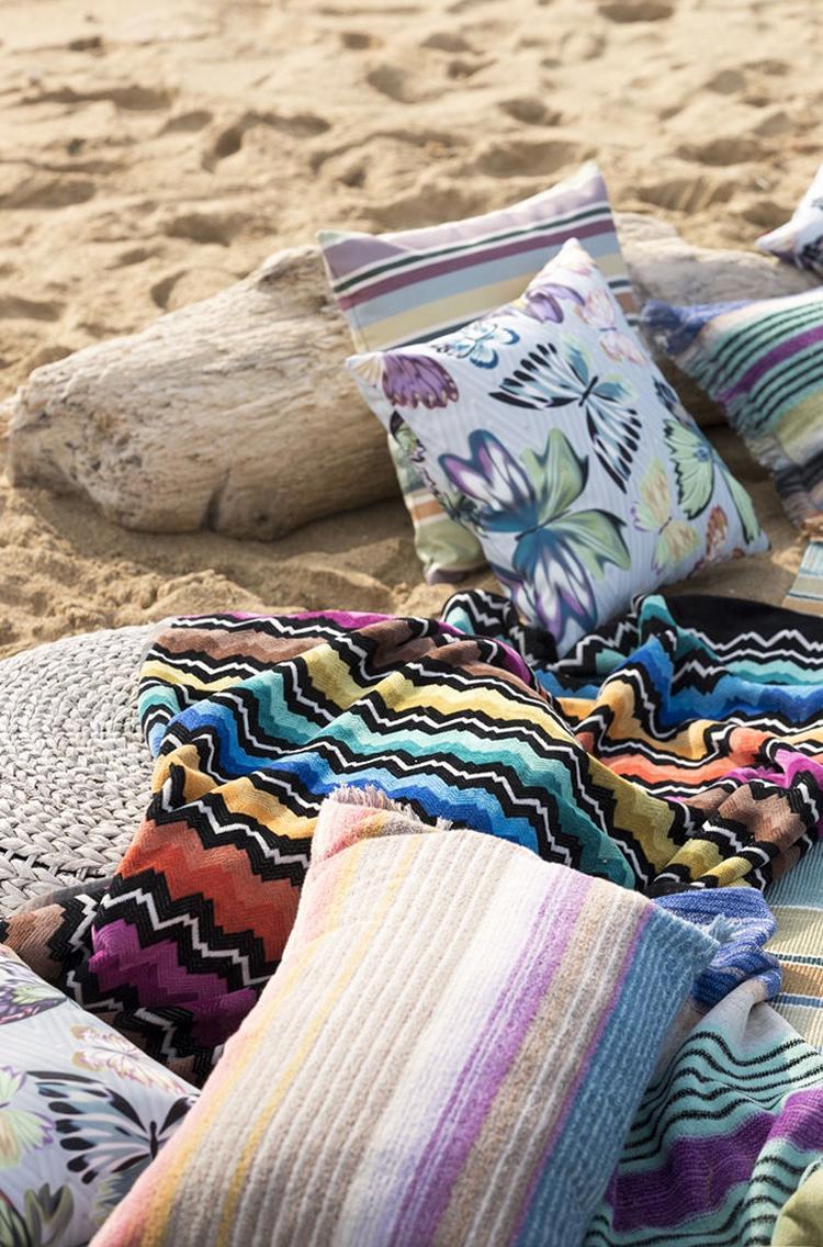 Cuscini mare e telo da spiaggia Missoni
