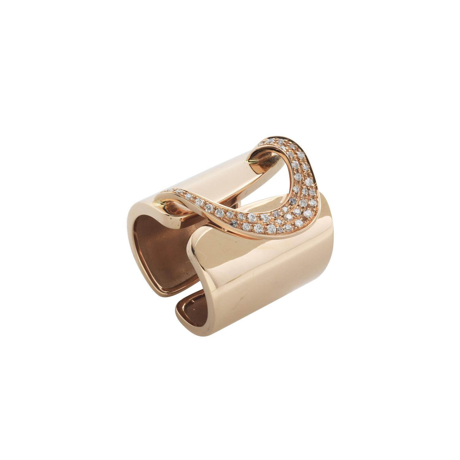 Band ring h.22 rose gold and diamonds