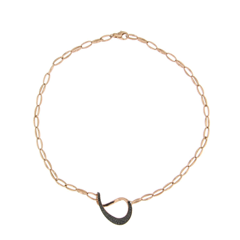 Collana catena in oro 18k e diamanti