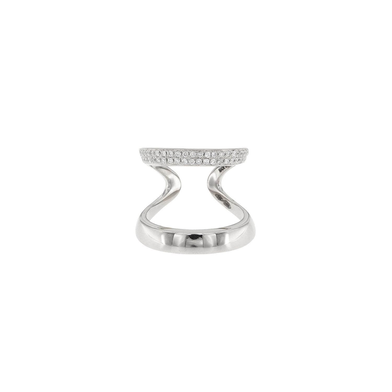 Anello doppio in oro 18k e diamanti