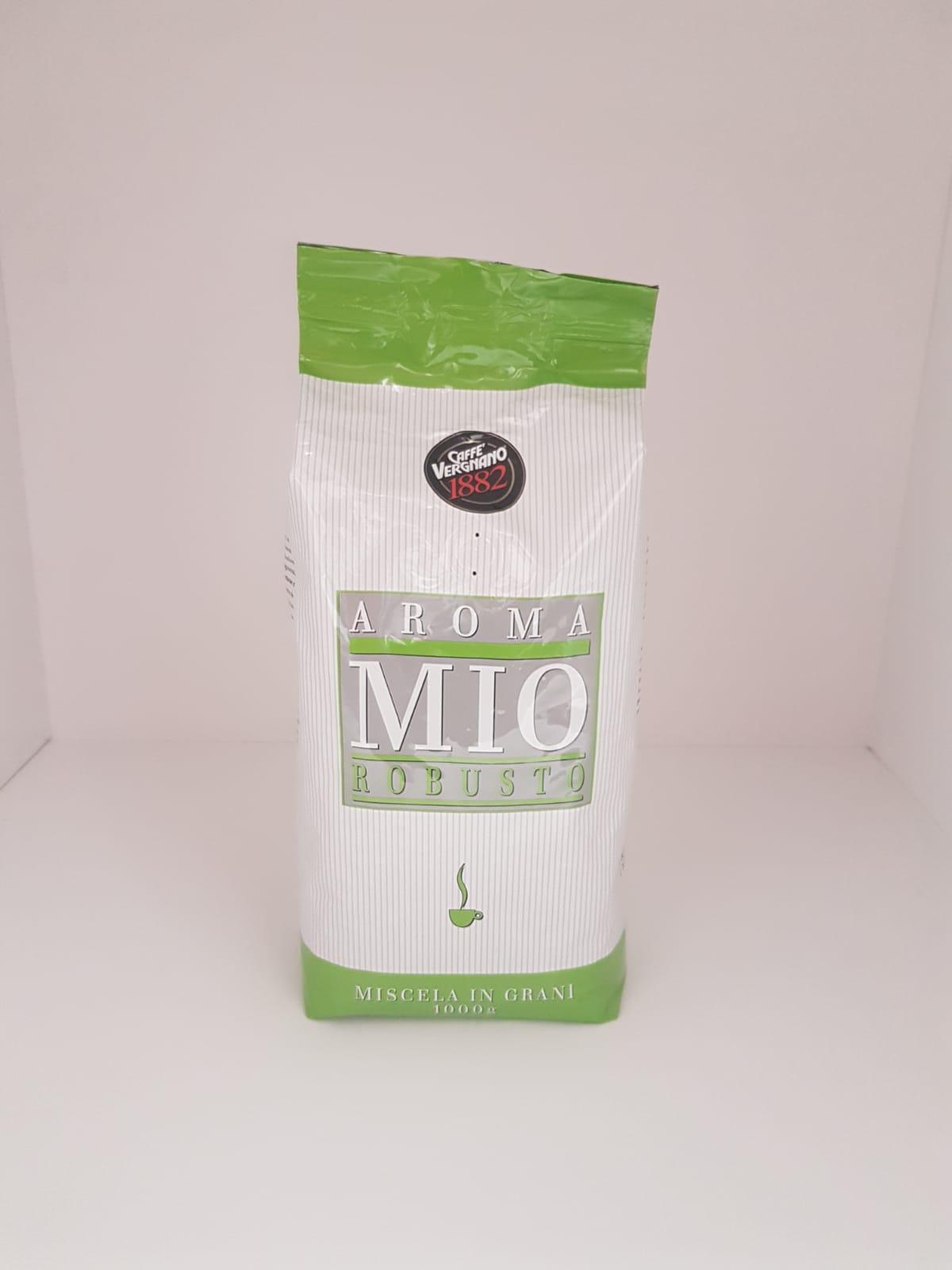 Caffè in grani Aroma Mio Vergnano Robusto 1Kg