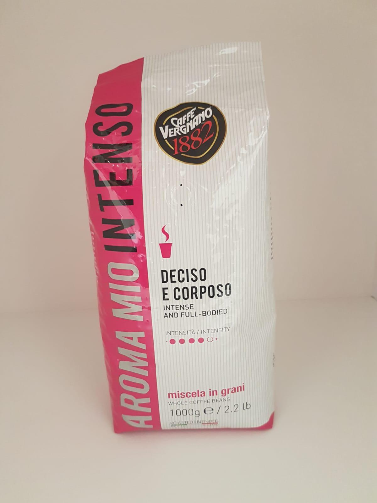 Caffè in grani Aroma Mio Vergnano Deciso e Corposo 1Kg